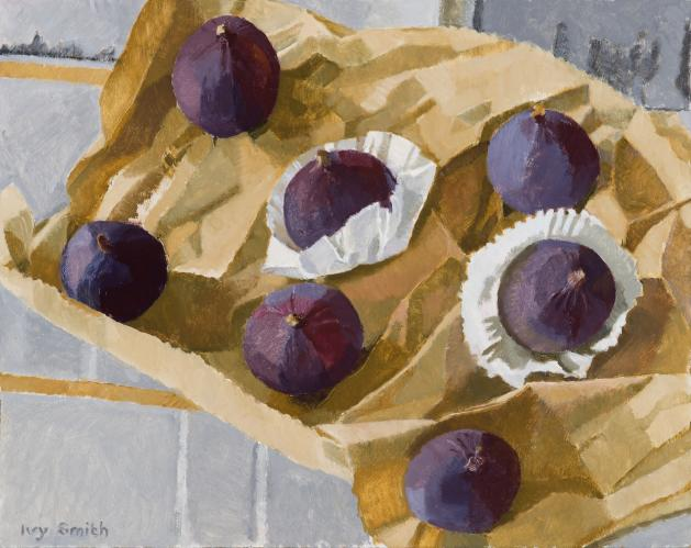 Figs on brown paper